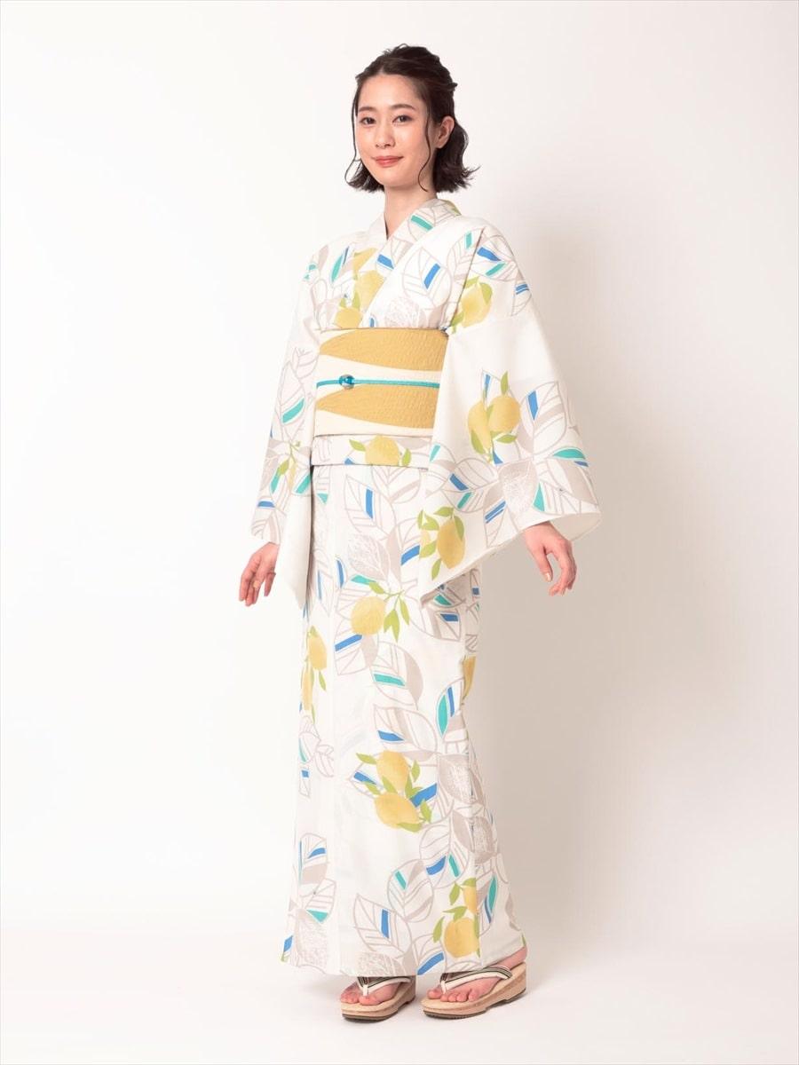 三松オリジナル浴衣「レモン」