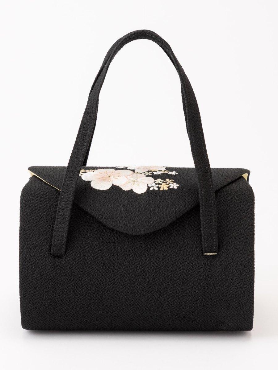 梅刺繍入り和装バッグ