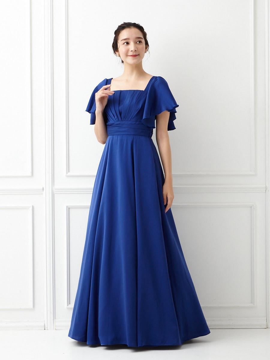 【WEB限定】サテンカラーロングドレス