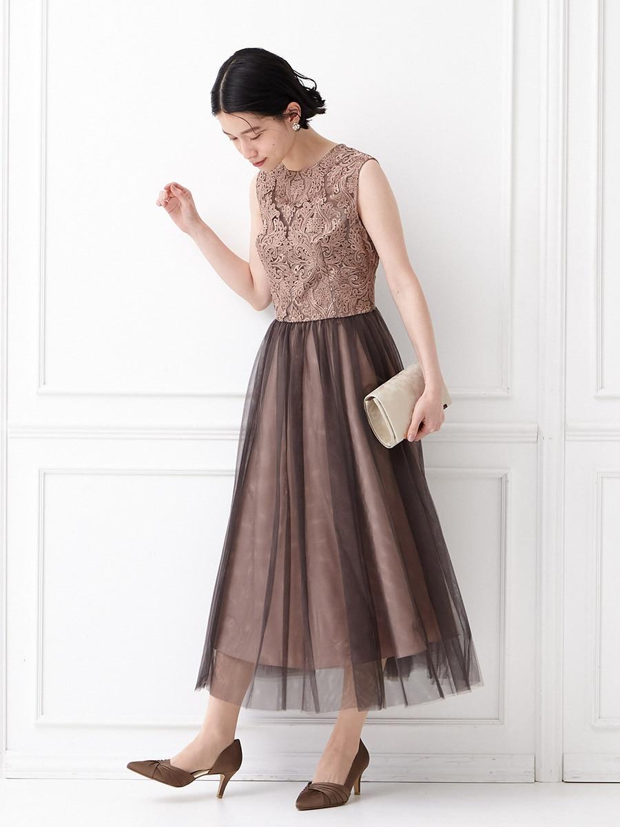 オーナメント刺繍レースドレス