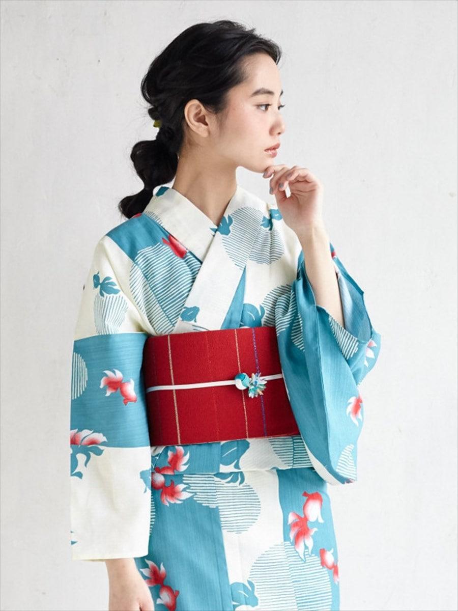 浴衣「金魚」~Natural Furifu