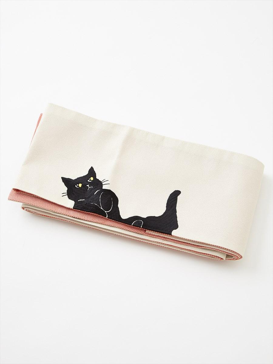 半巾帯「ごろん猫」